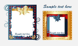 Picture frames. Two Picture frames vector illustrations Royalty Free Stock Image