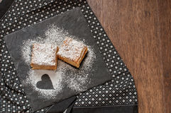Two piece of Mille-Feuille puff pastry or Napoleon Royalty Free Stock Photography