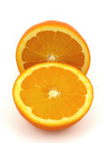 Two piece of Orange fruit Stock Photos