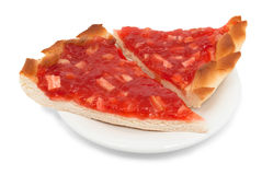 Two piece of pie with strawberry Royalty Free Stock Photos