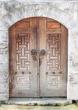 A two piece wooden doors royalty free stock image