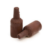 Two pieces alcohol-filled chocolate Royalty Free Stock Photo