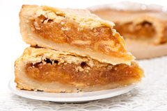 Two pieces of apple pie Royalty Free Stock Image