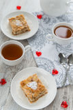 Two pieces of apple pie Royalty Free Stock Photo