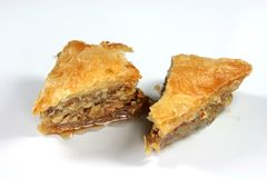 Two pieces baklava Royalty Free Stock Photo