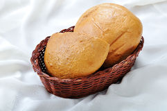 Two pieces of bread Stock Images