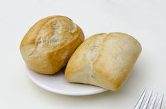 Two pieces of bread Royalty Free Stock Photo
