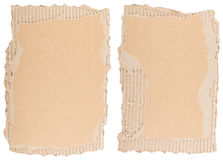 Two pieces of brown cardboard Royalty Free Stock Image