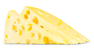 Two Pieces Of Cheese Stock Image
