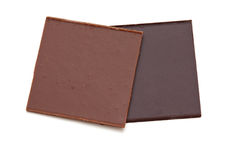 Two pieces of chocolate Royalty Free Stock Images