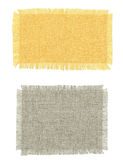 Two pieces of cotton fabric in different colors. Royalty Free Stock Images