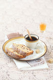 Two pieces of Earl Grey Loaf Cake Stock Images
