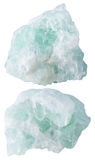 Two pieces of fluorite (fluorspar) mineral stone Stock Photography