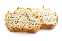 Two pieces of fresh bread Stock Photography