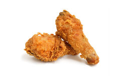 Two pieces of  fried chicken Drumstick Royalty Free Stock Images