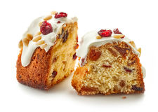 Two pieces of fruit cake Royalty Free Stock Photography
