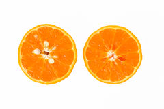 Two pieces of half orange Royalty Free Stock Photo