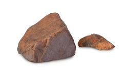 Two pieces of iron ore Stock Photography