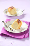 Two Pieces of Lemon Cake Royalty Free Stock Photo