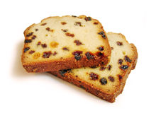 Two Pieces Of Fruitcake Stock Photo