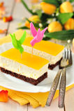 Orange Quark Cake Stock Image
