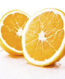 Two pieces of orange Stock Images