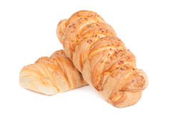 Two pieces of pastry Royalty Free Stock Image
