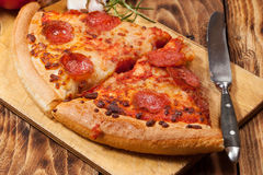 Two pieces of pizza. Stock Photography
