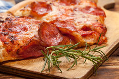 Two pieces of pizza. Stock Image