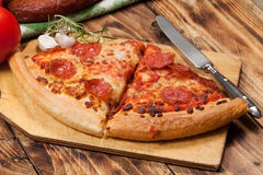 Two pieces of pizza. Stock Images