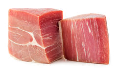 Two pieces of prosciutto Stock Images