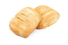 Two pieces of puff pastry Royalty Free Stock Photos
