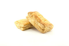 Two pieces of puff pastry Stock Photos