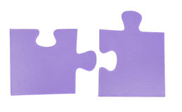 Two pieces of puzzle Royalty Free Stock Images