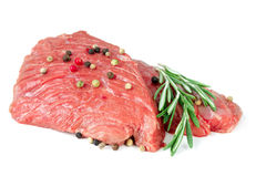 Two pieces of raw beef Royalty Free Stock Photos