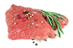 Two pieces of raw beef Stock Image