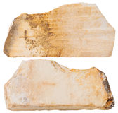 Two pieces of Shale mineral stone isolated Stock Image