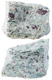 Two pieces of Trachyte (Trachyt) mineral stone Royalty Free Stock Images
