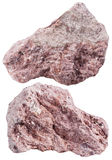 Two pieces of Tuff (ash-tuff) mineral stone Stock Photos