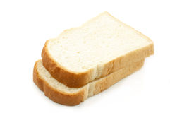 Two pieces of white bread Royalty Free Stock Images