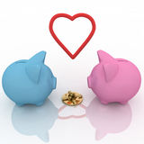 Two piggy-bank Stock Image