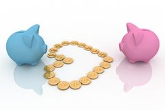 Two piggy-bank Stock Photos