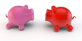 Two piggy bank Stock Image