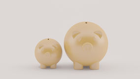 Two piggy bank, finance concept Royalty Free Stock Photos