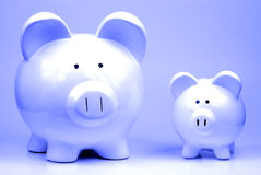 Two Piggy Banks Royalty Free Stock Photo