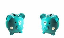 Two Piggy Banks Stock Photography