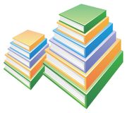 Two Pile of  books Stock Photography