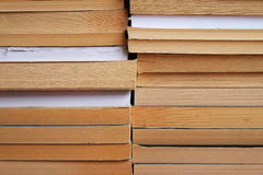 Two piles of books on top of each other Royalty Free Stock Photography