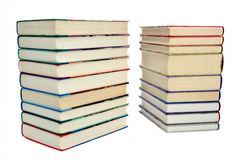 Two piles of books Stock Photo