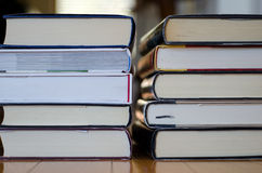 Two piles of books Royalty Free Stock Images